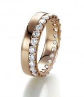 Memoire Goldring 585 Rosegold 1,00 ct. 22974