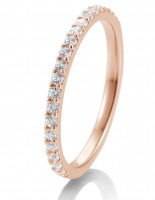 Verlobungsring Rotgold 0,36 ct. Memoire-Ring