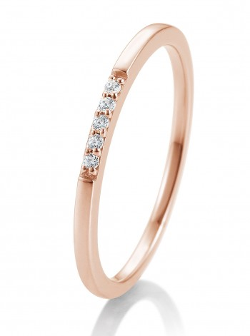 Verlobungsring Rotgold 0,038 ct. Memoire-Ring