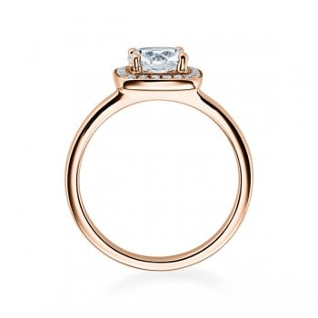 Diamantring Solitaire 0,30 ct. Verlobungsring Rotgold