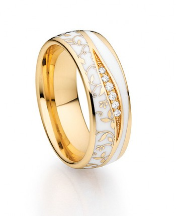 Goldring Fischer Trauringe Elise Apricot Gold 07557