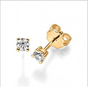 Diamant Ohrstecker Gelbgold 12447 Diamant 0,20 ct.