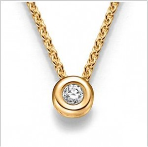 Viore Collier Gelbgold 10862 Diamant 0,10 ct.