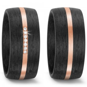 Carbon Rosegold Trauringe TitanFactory 59316
