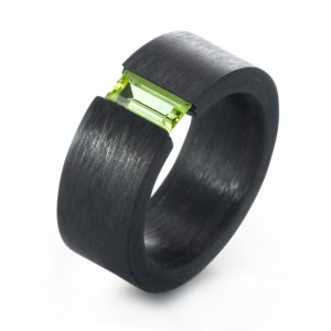 Carbon Trauringe Peridot TitanFactory 59328