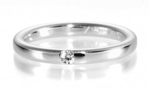 Diamantring Memoire 49-85011-0 Diamant 0,05 ct.