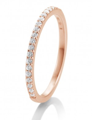 Verlobungsring in Rotgold 0,26 ct. Memoire-Ring