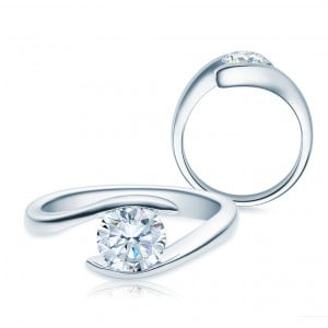 Diamantring 585 Gold 1,00 ct Tw/si Verlobungsring Diamant