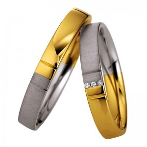 Eheringe Trauringe Saint Maurice light Bicolor 333 oder 585 Gold 49/87068