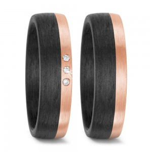 Trauringe Carbon Rosegold TitanFactory 59317