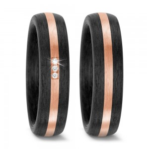 Trauringe Carbon Rosegold TitanFactory 59318