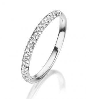 Diamantring Weißgold RU-1326 Diamanten 0,28 ct. Memoirering