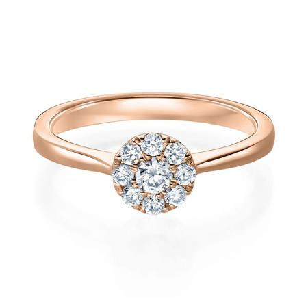 Solitaire Diamantring 0,15ct- 0,40ct. Verlobungsring Rotgold 1593